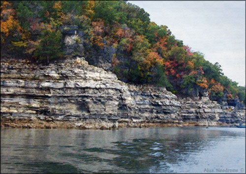 We saw lots of color in the leaves at Bull Shoals...Click here to see the image larger