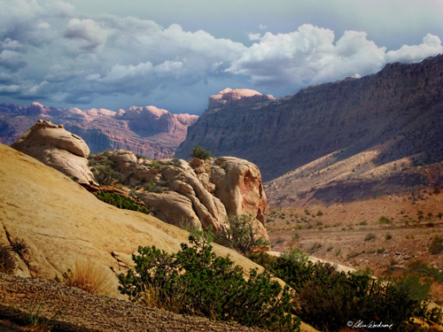 Along the road to Moab, Utah