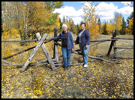 Chris rarely passes a split rail fence without wanting to take a picture like this
