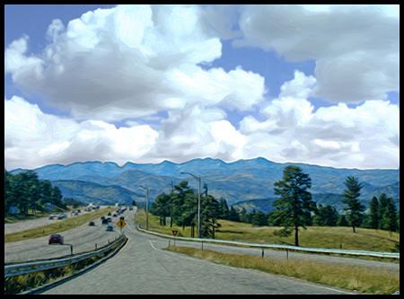 Driving toward Breckenridge