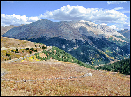 The Continental Divide is at an elevation of 12095 feet above sea level