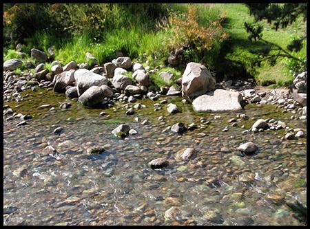 Gore Creek has beautiful clear water
