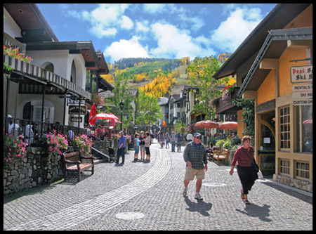 We loved Vail's charming European-style pedestrian village