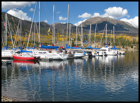 Lake Dillon is the largest lake in the area and offers magnificent mountain vistas