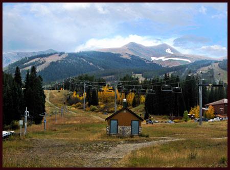 a ski lift along the trail