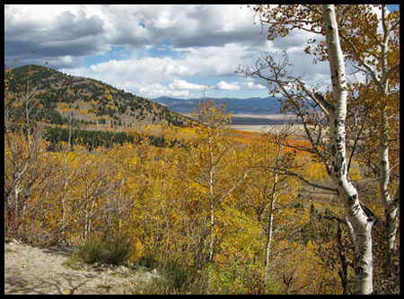 On the way up to Boreas Pass from the south