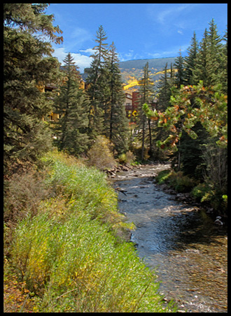 a quiet bend of Vail's Gore Creek