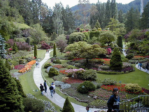 The Famous Butchart Gardens of Victoria