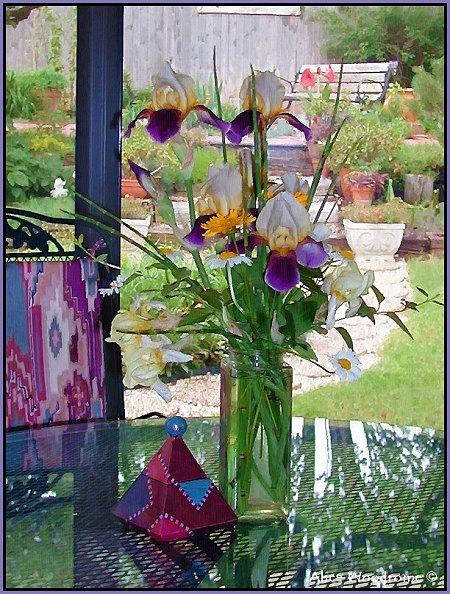 Flowers in Sunroom